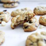 white and dark chocolate chip cookies