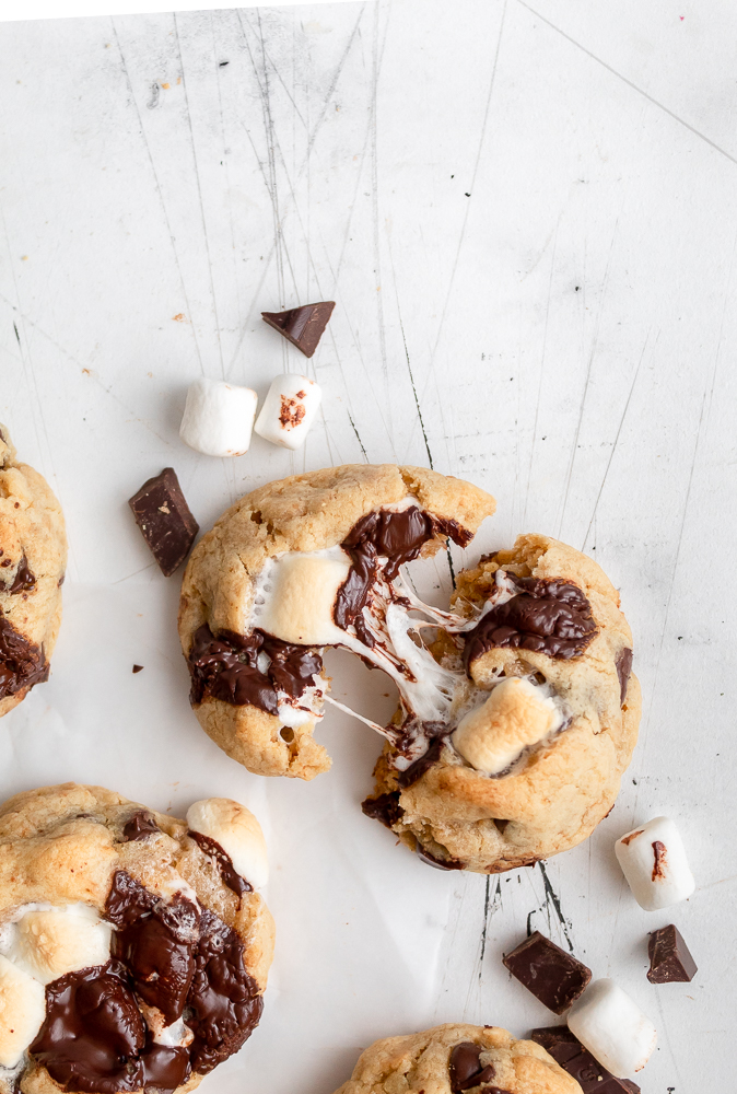 smores stuffed cookies