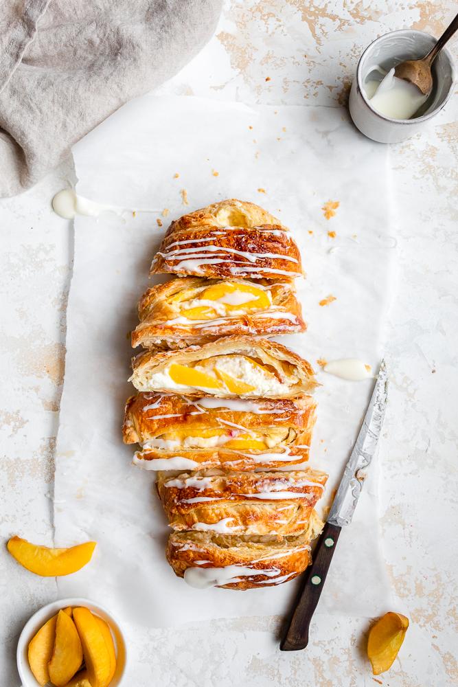 peach and cream cheese danish